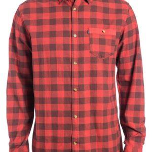 Rip Curl Check It Ls Shirt Rosso Abbigliamento uomo Camicie manica lunga