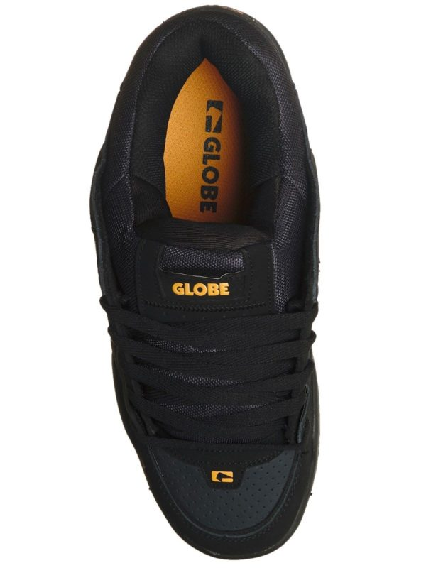 best website bd1ff 1c9d2 Globe Black-Ebony-Arancione Scarpa Fusion