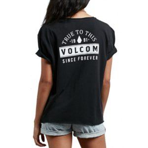 Maglietta a manica corta Volcom Ride The Stone Tee Black BLACK