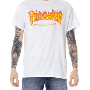 T-shirt Thrasher Bianco – FLAME LOGO –