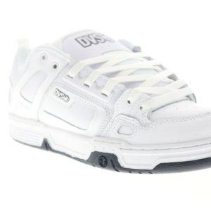 DVS Comanche White Low Top Lace Up Athletic Surf Skate Shoes