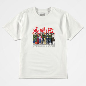 Primitive x Naruto Boys Leaf Village White T-Shirt