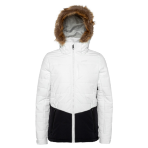 Fence Faux fur ski jacket White Protest