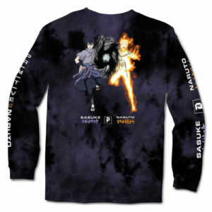 Primitive x Naruto Washed Tie-dye Long Sleeve T Shirt Purple Naruto