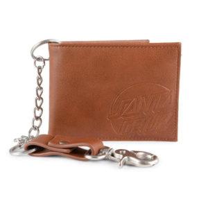 Santa Cruz Opus Dot Chaint Wallet Brown