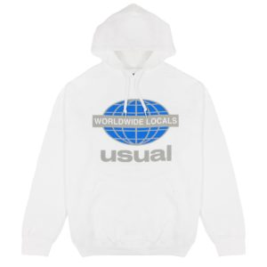 WORLDWIDE LOCALS OG WHITE HOODIE usual