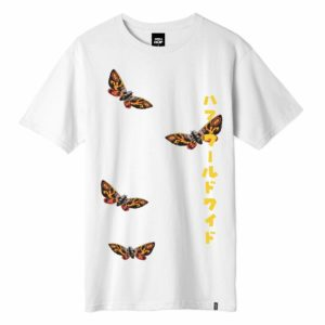 T-SHIRT HUF / MOTHRA S/S TEE WHITE
