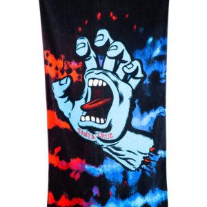 Santa Cruz Screaming Hand Asciugamani (tie dye)