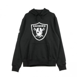 NEW ERA FELPA CAPPUCCIO TEAM LOGO PO HOOD OAKRAI BLACK/ORIGINAL  COLORS  NFL – OAKLAND RAIDERS
