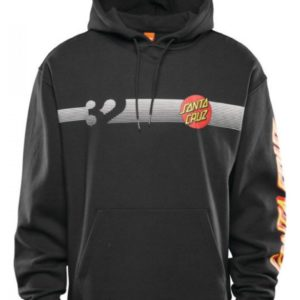 Thirtytwo 32 x santa cruz repel pullover hoodie black 2021
