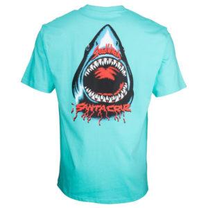 SANTA CRUZ – T-shirt Uomo Speed Wheels Shark – Azzurro