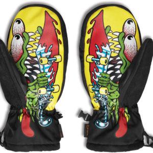 Thirtytwo 32 x santa cruz mitt black yellow 2021 guanti moffole new snowboard…