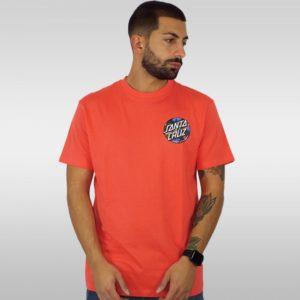 SANTA CRUZ T-Shirt DOT Splatter HOT CORAL