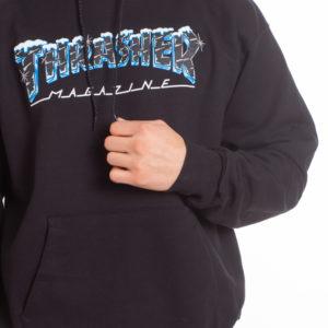 Thrasher Black Ice Felpa Hoodie (black)
