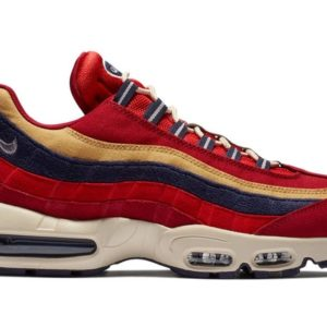 NIKE SCARPA BASSA AIR MAX 95 PRM RED CRUSH/PROVENCE PURPLE/WHEAT GOLD
