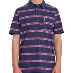 Volcom Smithers Polo Camicia in Blu Nero